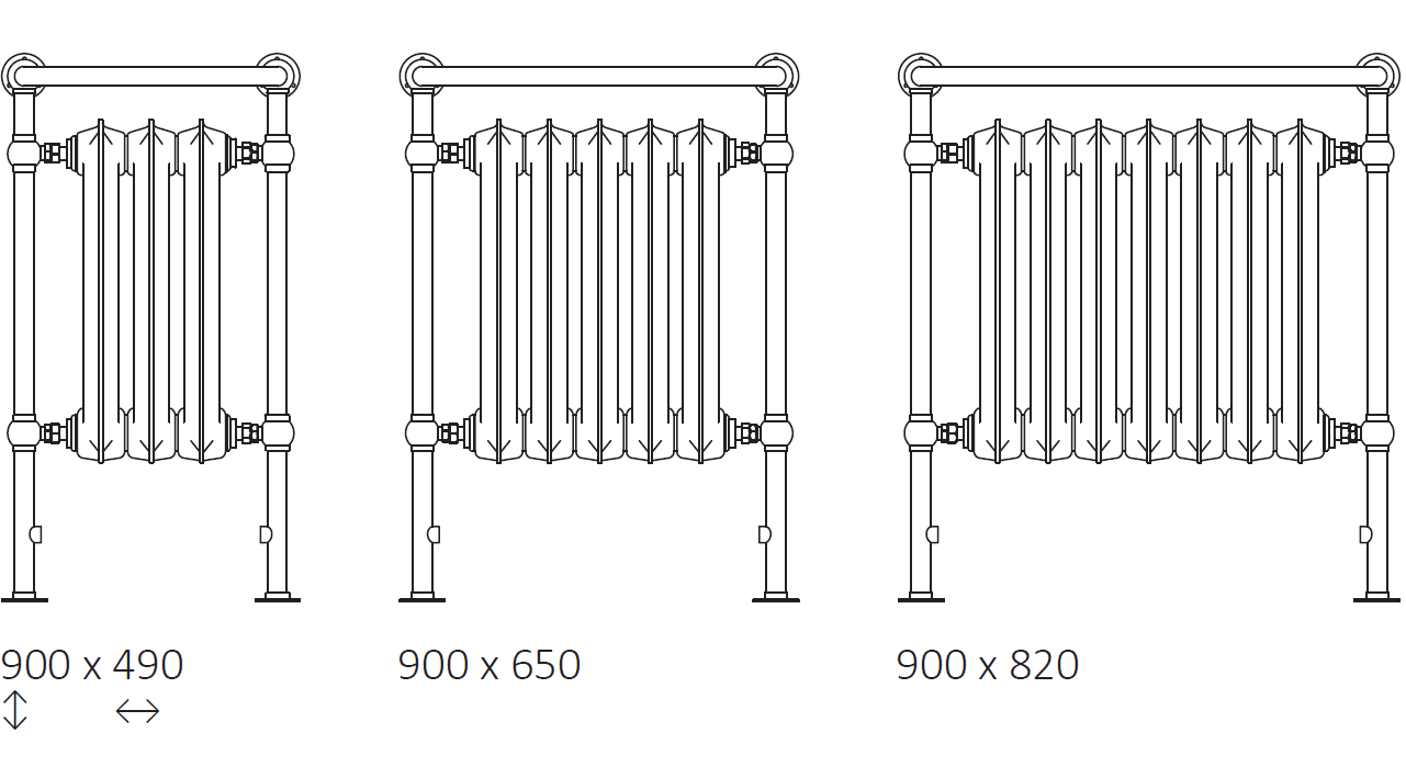size: Plain Towel Rail 900